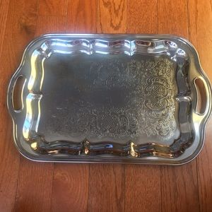 Vintage Serving Platter Silver Dish